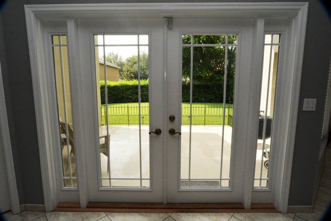 French Doors to Patio and View