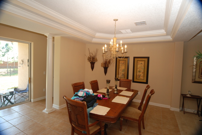 Dining Room w Tray Ceilings